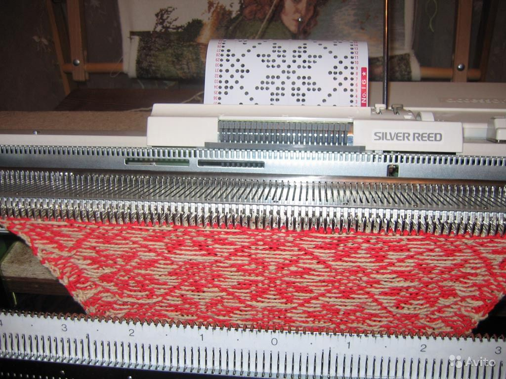 Вязание вязальной машине silver reed