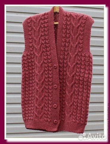 Вязание спицами жилеты и безрукавки для женщин больших размеров 78