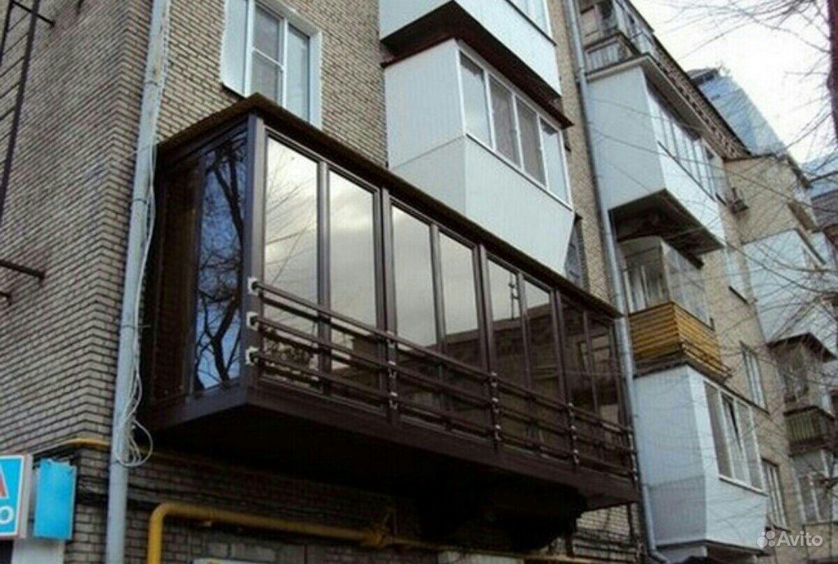 Отделка балконов внутри и снаружи..