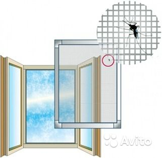 Москитная сетка на пластиковые окна  ярославль
