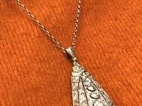 Золотой винтажный подвес с бриллиантами