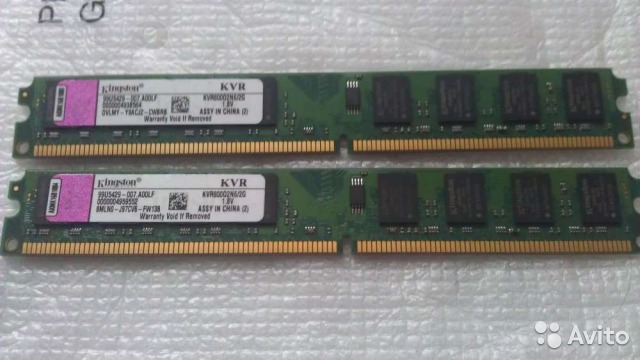 Kingston DDR2 800Mhz 2Gb для компьютера New— фотография №1