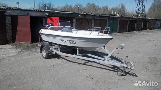 Лодка terhi + мотор suzuki DF50A + прицеп + гараж купить 3