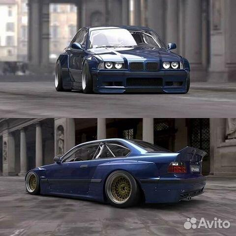 Расширение крыльев BMW E36 купэ Rocket bunny купить в