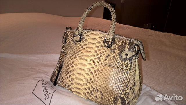 19b8b160b185 Итальянская новая сумка La Nicola из кожи питона купить в Санкт ...
