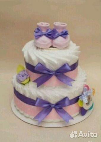 Торт из подгузников пошаговое фото для девочки