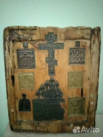 Очень старинная икона. Ставротека 18-19 век