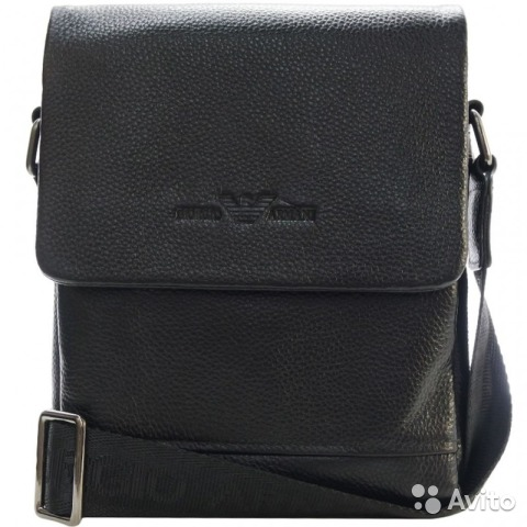 6ca5fcccd7cd Мужская кожаная сумка Armani black мужские сумки купить в Москве на ...