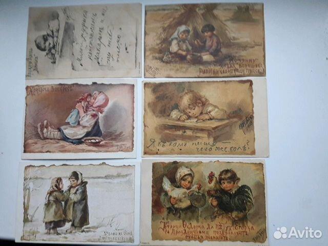 Продать антикварные открытки и книги, смешные надписями