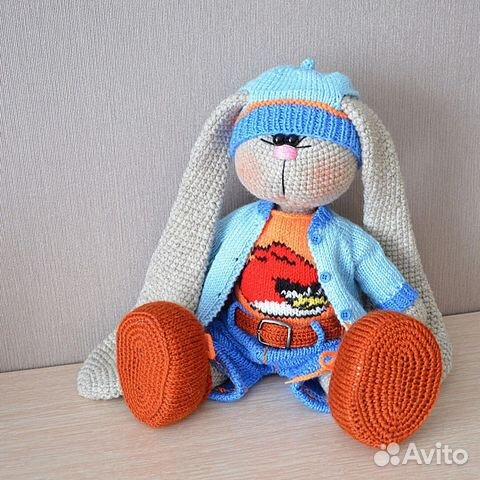 игрушка заяц тильда вязаный купить в тюменской области на Avito