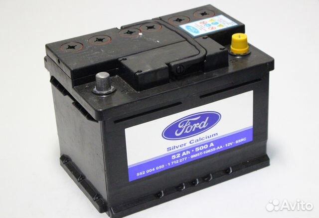 аккумулятор ford silver calcium 52ah 500a