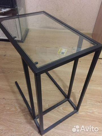 стеклянный столик подставка Ikea купить в москве на Avito