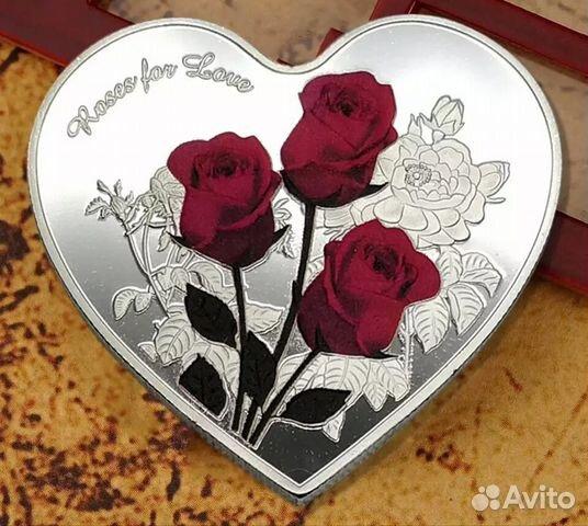 Сувенирная монета Розы любви 89061876716 купить 1