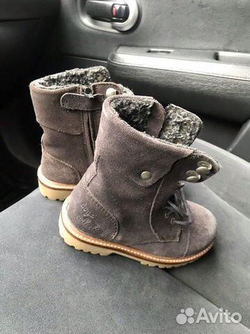 Новые замшевые ботинки С мехом zara 89280678120 купить 1