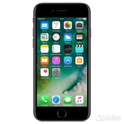89270863062 Новый iPhone 7 Рст Отпечаток 32Гб чернМат Гарантия