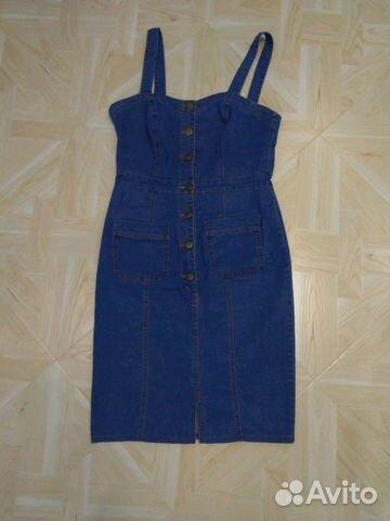 Платье сарафан джинсовый стрейч 89210057775 купить 1