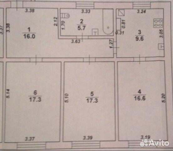 3-к квартира, 82.5 м², 3/3 эт. 89587921096 купить 7