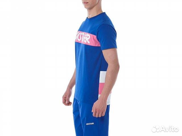 Asics футболка color block short sleeve T размер L купить 2