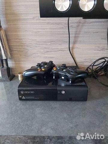 X-BOX360 прошитый. 2 джостика. 12 лицензионных дис  89028193940 купить 1