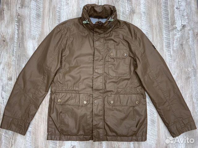 Мужская коричневая прорезиненная куртка Calamar  89218780739 купить 2