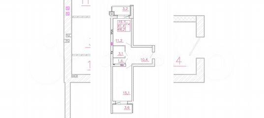 1-к квартира, 48.2 м², 1/4 эт. в Ивановской области | Покупка и аренда квартир | Авито