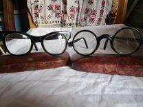 СССР очки роговые со стеклами в футляре