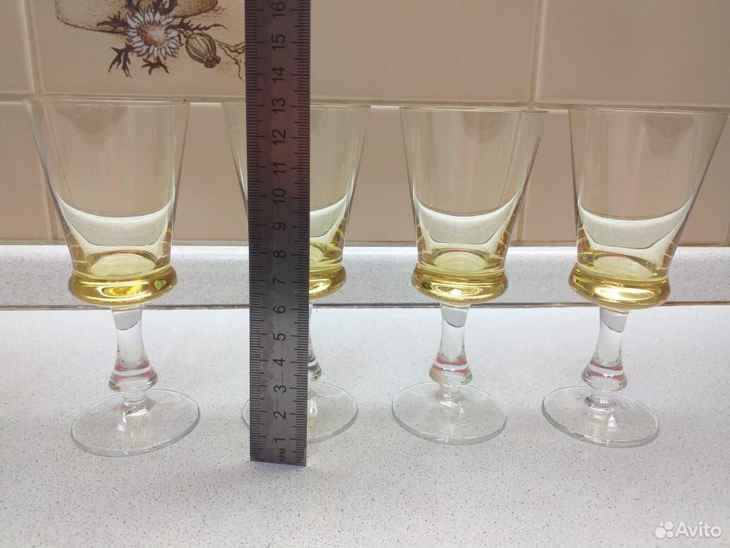 Стеклянные рюмки, бокалы из цветного стекла СССР  89807548898 купить 3