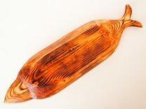 Тарелка в форме рыбы из дерева