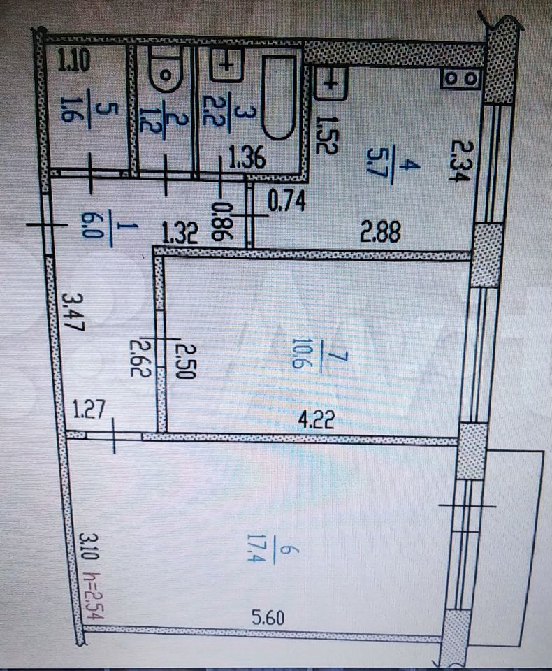 2-к квартира, 45 м², 3/5 эт.  89836090490 купить 6