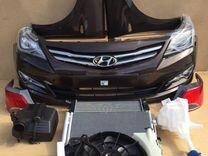 Капот комплект Hyundai Solaris весь