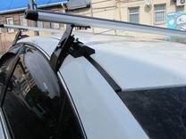 Багажник на крышу Nissan Almera (аэро) +монтаж