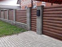 Заборы и др. конструкции из бетонных блоков