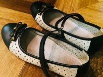 Кожаные туфли для девочки р.34