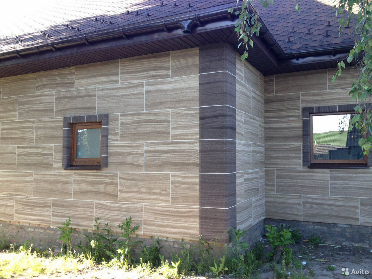 Отделка фасада домов из гибкого камня  89236857665 купить 2