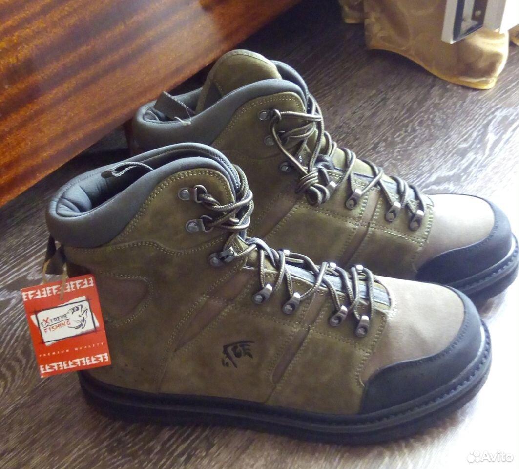 Ботинки для ловли нахлыстом (забродные ботинки)  89301207747 купить 1